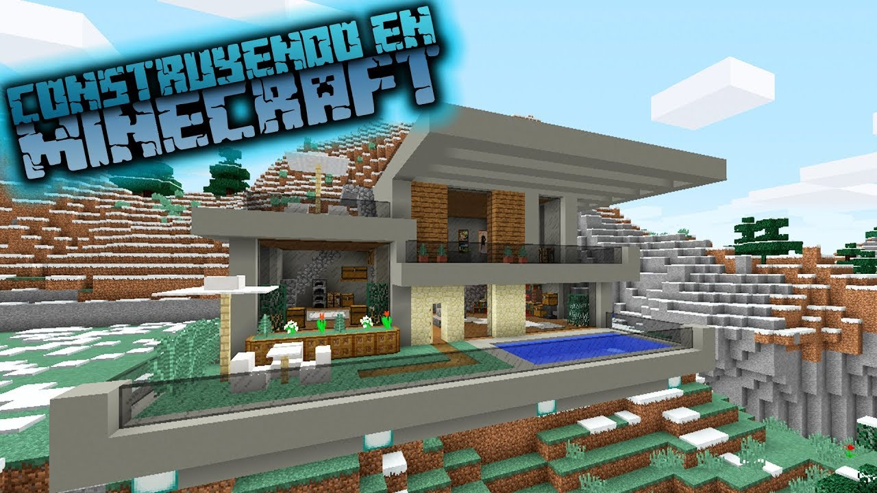 Minecraft como hacer una casa moderna para survival youtube for Casa moderna omarzcraft