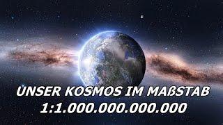 Unser Kosmos im Maßstab 1:1 Billion