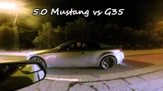 5.0 Ford Mustang vs G35