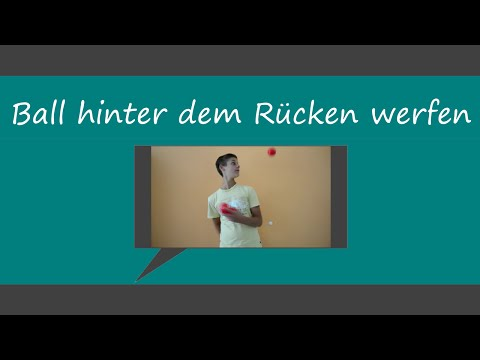 Ball hinter dem Rücken werfen (3-Ball-Trick) [HD+] | ChrisJTV