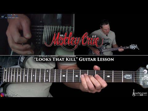 Looks That Kill Guitar Lesson - Motley Crue