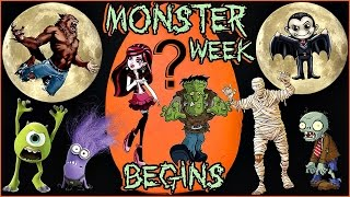~👻*💀~ MONSTER WEEK BEGINS ~💀*👻~ HALLOWEEN themed GIANT Play Doh Surprise Egg Selection Video