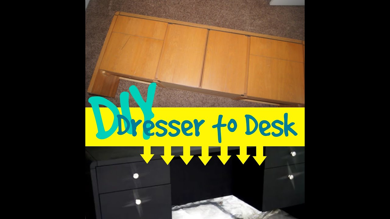 Diy Dresser To A Desk