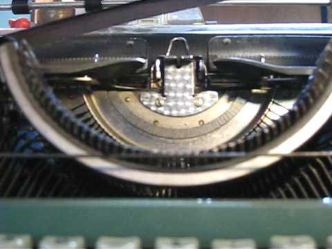 How to put a new ribbon into a typewriter