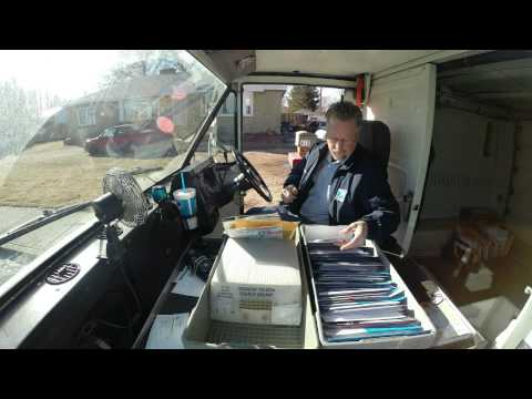 Letter Carrier mailman Dery  Time Lapse