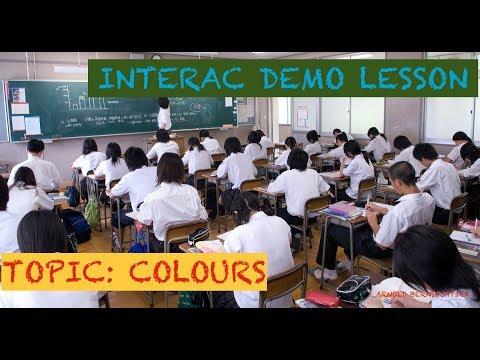 Interac Application Demo Lesson - Teaching in Japan (Colours)