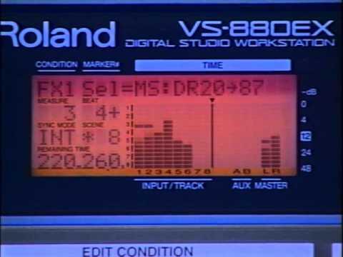 Roland vs 880 vhs original manual on tape, takes u through.