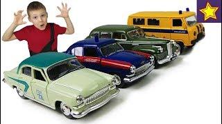 Машинка Волга ГАЗ 21 Розпакування машинки toys Cars for kids