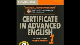 Cambridge CAE 1 Listening Test 2