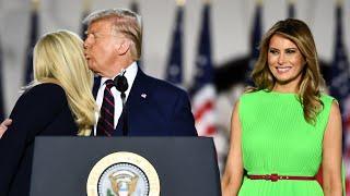 Melania Trump greets Ivanka with an uncomfortable smile