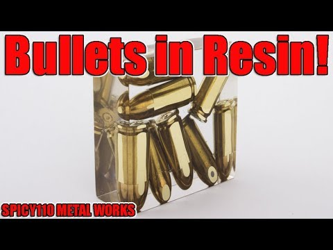 Real Bullets In Resin!