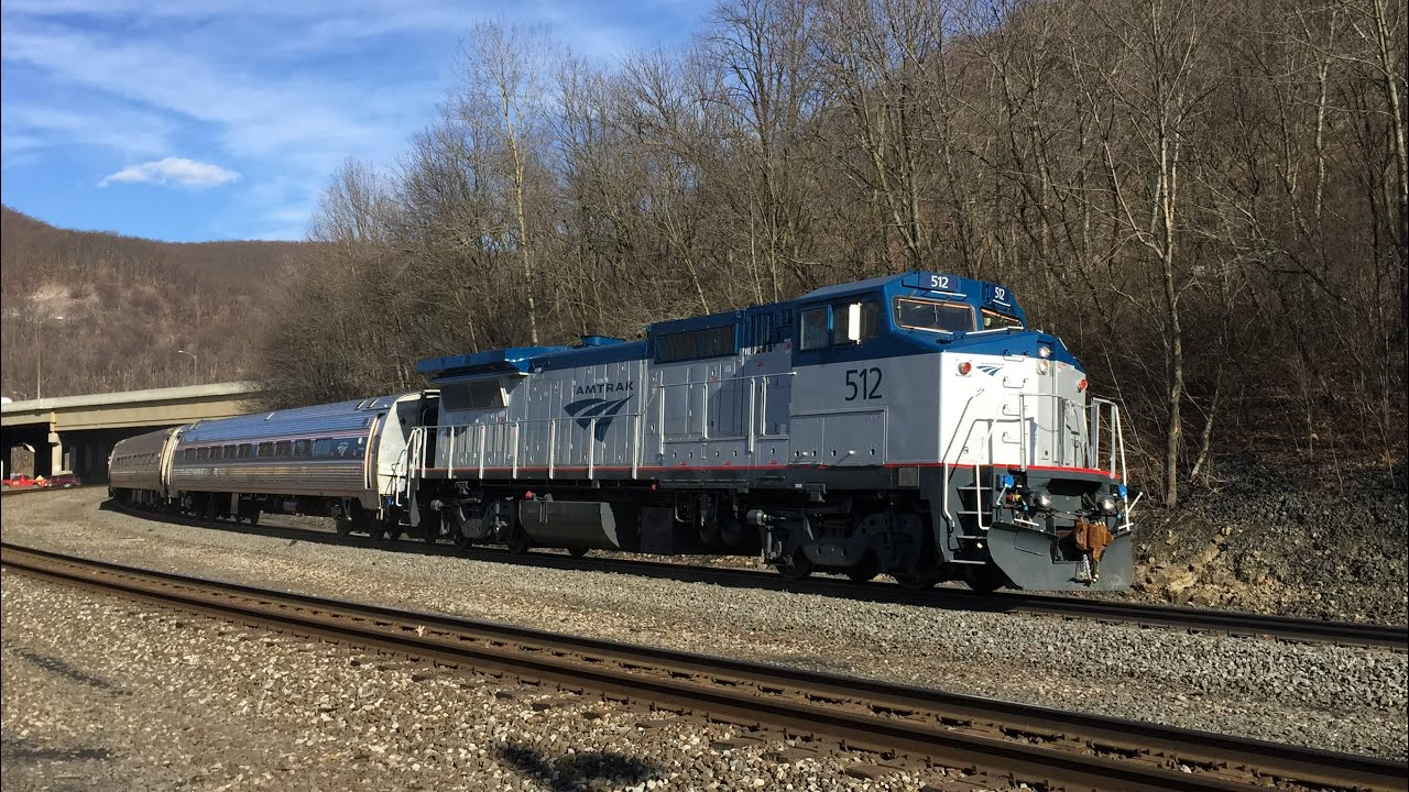 Train to colorado from pa - Amtrak Hd Freshly Rebuilt Ge P32 8wh 512 Leads Pennsylvanian Train 43 Through Tyrone Pa 3 18 15