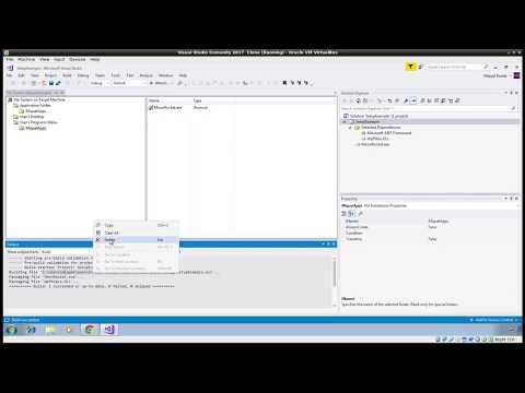 Visual Studio 2017: How to create MSI installer package - YouTube