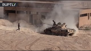 Видео боёв сирийской армии с террористами за авиабазу в Дейр эз-Зоре