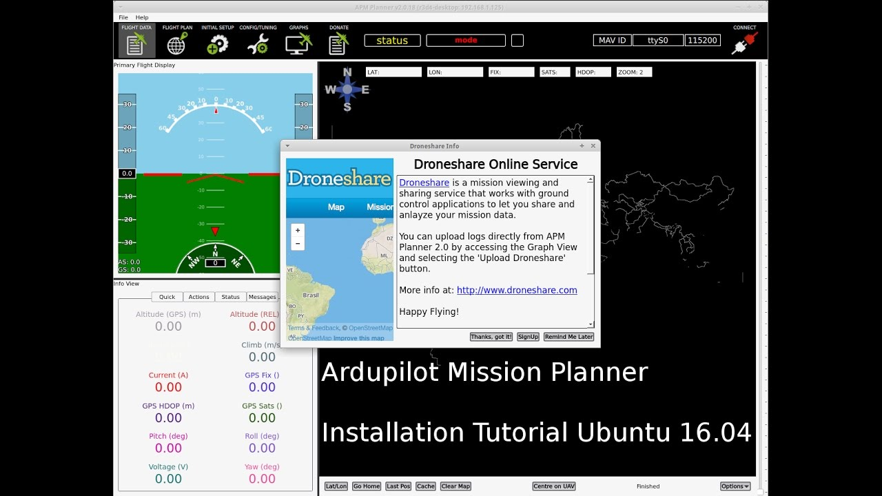 How to install Ardupilot Mission Planner in Xubuntu 16 04 (32/64 bit) in 4  Minutes