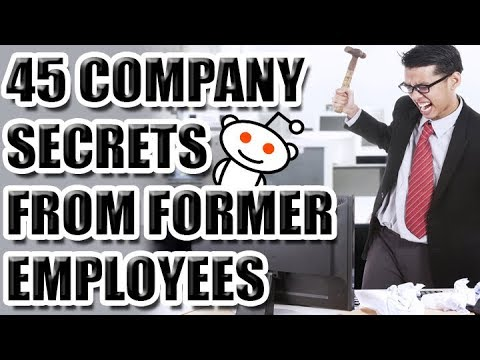 45 Company Secrets From Former Employees [ASKREDDIT]