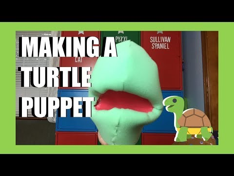 Making a Turtle Puppet! Monday Livestream