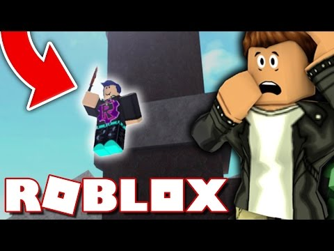 KILLING A FLYING HACKER IN ROBLOX ASSASSIN!!