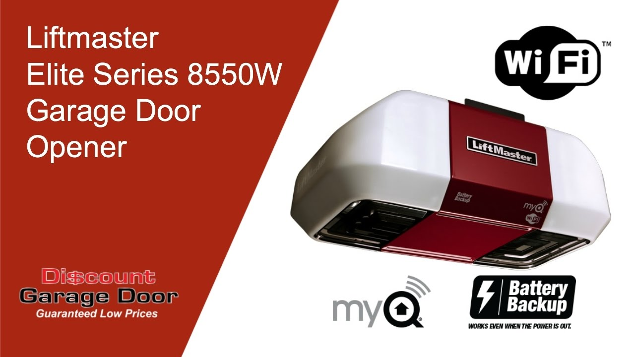 Liftmaster Elite Series 8550w Garage Door Opener 918 234 Door Or