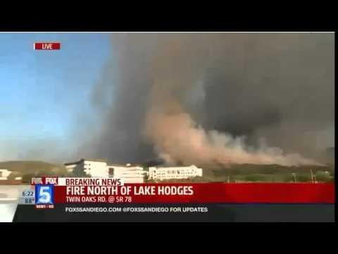 WildFires Burn San Diego County California