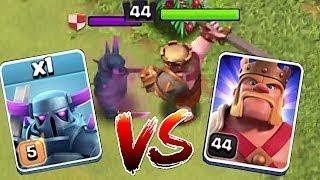 max P.E.K.K.A vs max barbarian king | Clash of clans | coc private server 2018 |