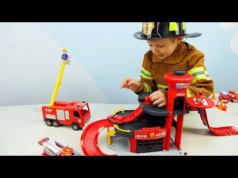 Пожарные Машинки 🚒 Все серии подряд 🚒 Пожарная часть Лего и Пожарный Даник. Видео для детей