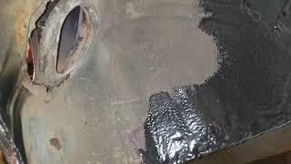 ремонт заднего крыла опель омега б.