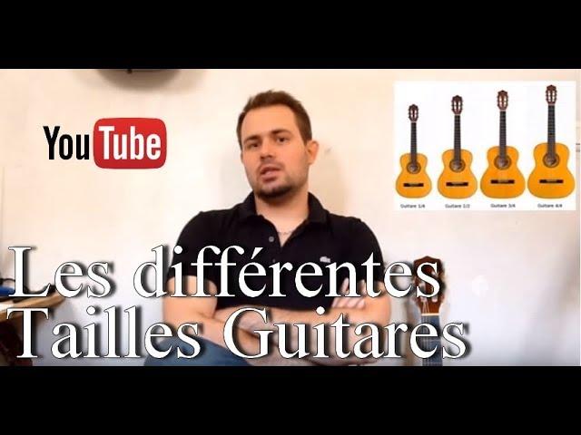 🎸 Les différentes tailles de guitares