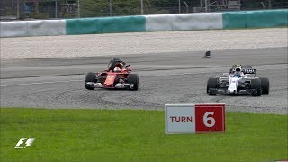 Vettel and Stroll Collide After The Flag | F1 Most Dramatic Moments 2017