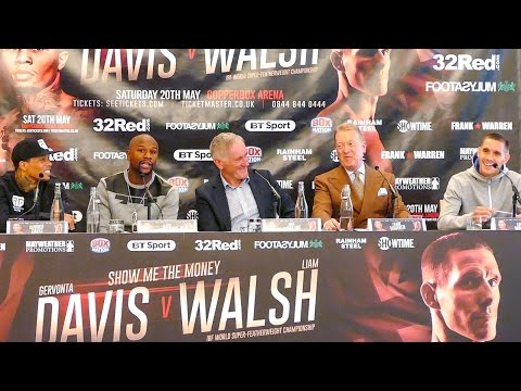Official Liam Walsh vs Gervonta Davis with Floyd Mayweather Final Press Conference