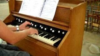 Harmonium - Reed organ: Bach-Toccata jouée par Hajo Frommen