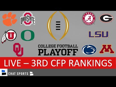 CFP Rankings LIVE – Top 25 Teams In 3rd College Football Playoff Rankings For 2020