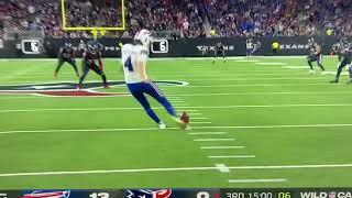 Bills td on kickoff return no signal against Texans. Play reversed.