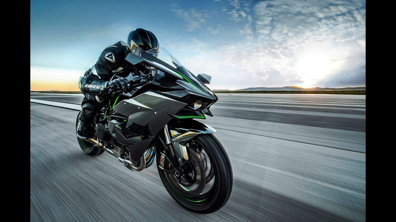 moto mais rápida do mundo 2016 - kawasaki h2r - 400km/hr - youtube