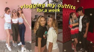 Outfits of the Week Vlog Style | Summer Mckeen