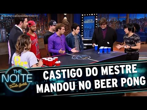 Castigo do Mestre Mandou no Beer Pong com Youtubers | The Noite (29/03/17)
