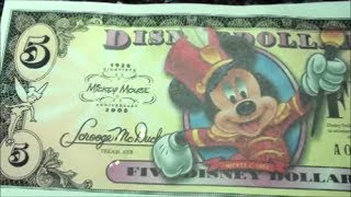 CURRENCY YOU NEVER KNEW EXISTED - DISNEY DOLLARS - CURRENCY WITH CHARACTER