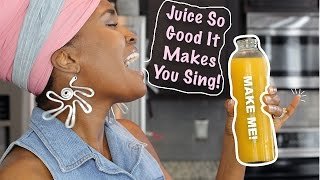 468| @whoissugar Delicious Pineapple, Orange and Basil Cold Pressed Juice!