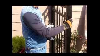 Aluminum And Wrought Iron Fence Installation