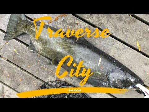 Downtown Traverse City Salmon Fishing