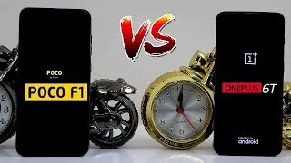 OnePlus 6T Vs Poco F1 Speed Comparision ,Snapdragon 845 Me Difference !! Speed Comparision ,HINDI