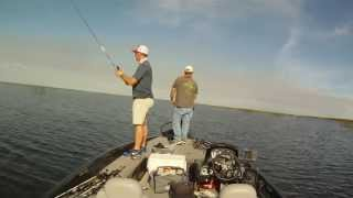 Jeff Dyson Fishing- Lake Okeechobee, 2014. Father shows son how it's done!