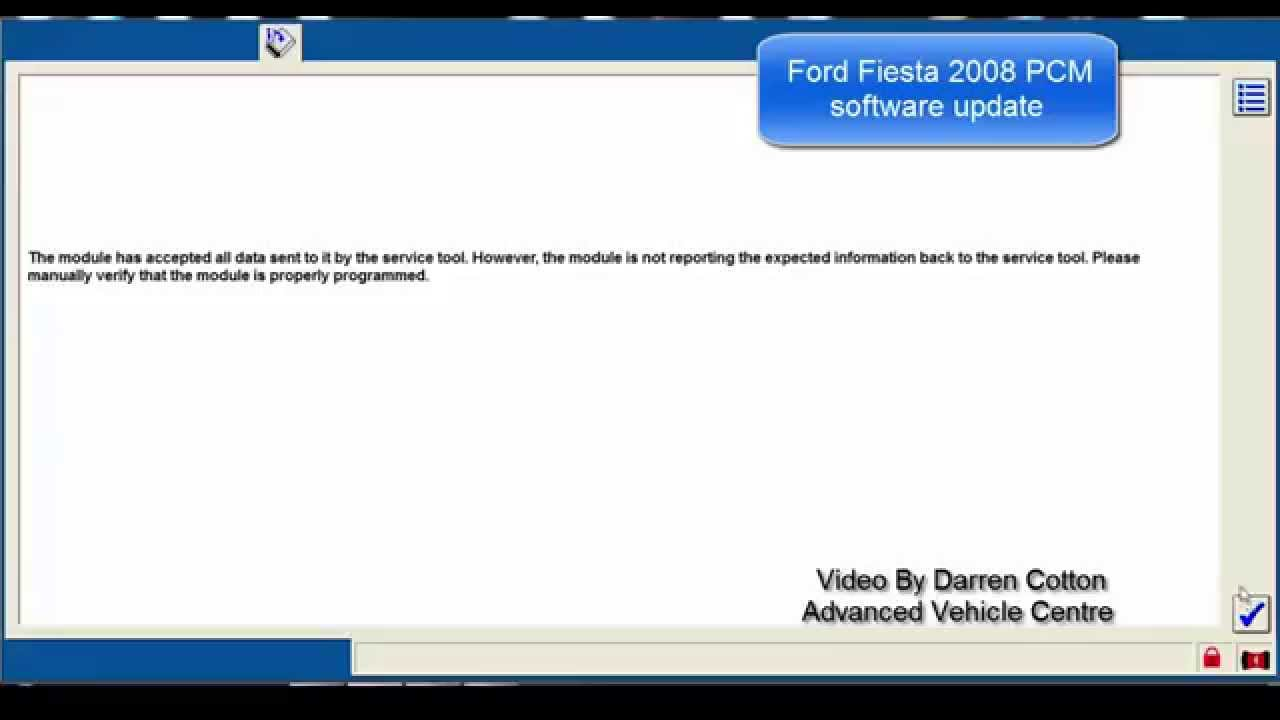 Ford Fiesta 2008 PCM Software Update