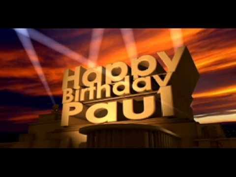 Happy Birthday Paul Cake
