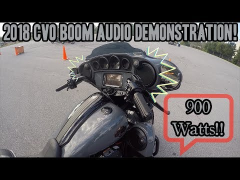 2018 Street Glide CVO Audio demonstration! Incredible!