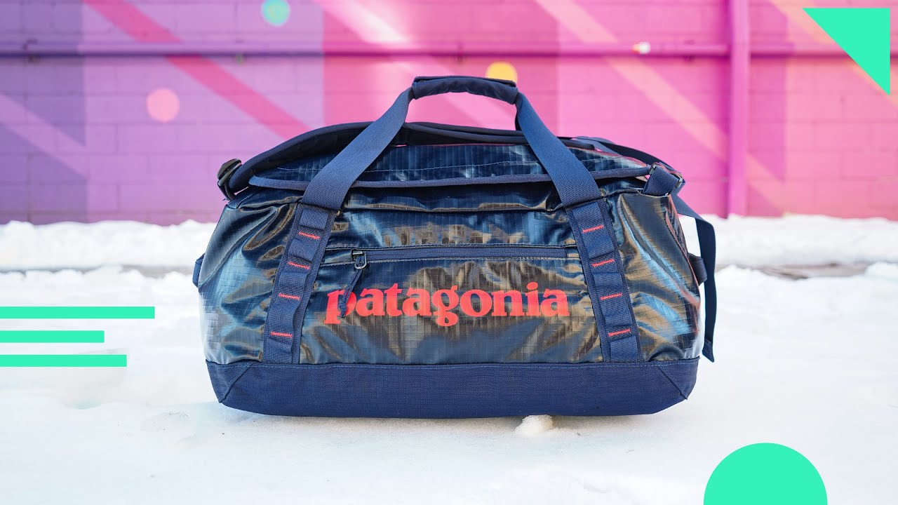 Download Patagonia Black Hole Duffel Bag Review   40L Travel Duffle With Backpack Straps