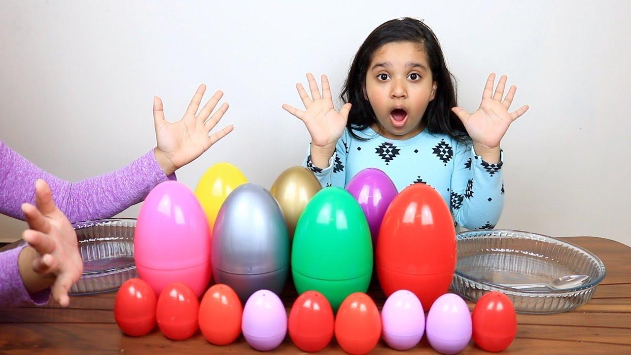 تحدي لا تختار بيضات السلايم الخاطئ Don T Choose The Wrong Egg Slime Challenge Youtube