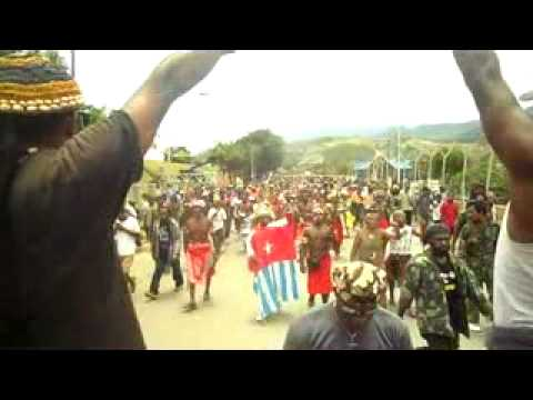 Thousands of West Papuan People in Jayapura fully support of the launch IPWP insects in Netherland