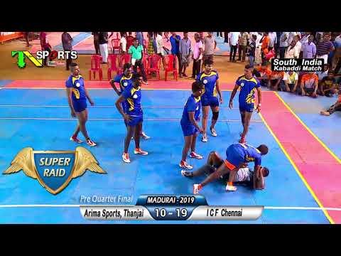 PQF - ICF, Chennai Vs Arima Sports, Thanjai | South India Level Kabaddi Match @ Madurai 2019