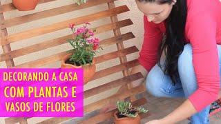 Como eu Decoro minha Casa com Plantas e Vasos de flores por Júlia Doorman
